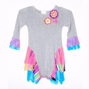 Ella Lulu Dress Sharkbite Multicolor